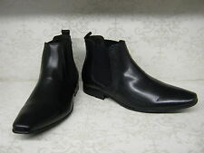 Mens Base London Arthur Tan or Black Waxy Leather Pull On Chelsea Style Boots