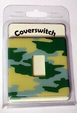 LIGHT SWITCH COVER - PLASTIC - CAMOUFLAGE - CHILDRENS - BEDROOM ACCESSORY