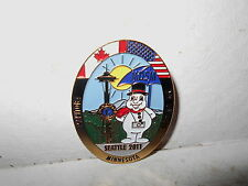 Lions Club Seattle 2011 MD5M Manitoba/Minnesota/NW Ontario Snowman Pin