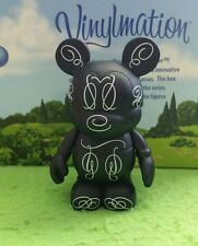 "DISNEY Vinylmation 3"" Park Set 3 Urban Black Cursive Mickey Mouse"