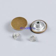 10pcs NO.22 NO-SEW Replacement Metal Button 17mm For Jeans/Denim-shirts/Pants