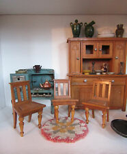 Antique SCHNEEGAS CHAIRS Lot 1800s Early 1900s Wood GERMAN Dollhouse Furniture