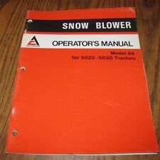 "Allis Chalmers 64"" Snow Blower Operators Manual ac used on 5020 & 5030 Tractors"