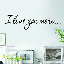 I Love You More Wall Quote Sticker Decals Removable Mural Decor Vinyl WSSU