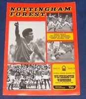 NOTTINGHAM FOREST HOME PROGRAMMES 1977-1978