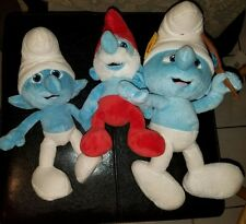 "Smurfs 2 Movie Vanity Girl Stuffed Plush 13"" + Bonus 10"" Smurf 2013 + Papa Smurf"