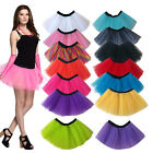 3Layers Adult Women Tutu Tulle Skirt Petticoat Dance Rave Neon Party Fancy Dress