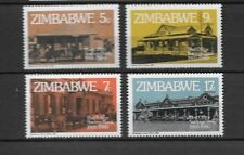 Zimbabwe mint stamp set showing buildings - architecture - see scan