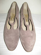 Salvatore Ferragamo Leather / Suede Taupe Shoes Size 9 AA