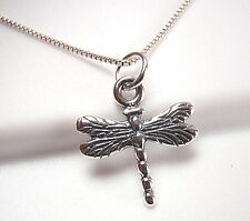 Very Small Dragonfly Pendant 925 Sterling Silver Corona Sun Jewelry entomologist