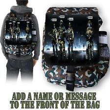 Personalised Call Duty Gamer Army Camo Backpack School Bag Sports Rucksack ST716