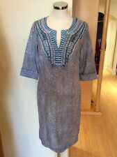 Olsen Tunic Dress Size 14 BNWT Taupe Cream Linen RRP £119 Now £53
