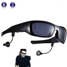 Bluetooth Sunglasses and Camera Video Recorder MP3 Player Headset Headphone 8 GB