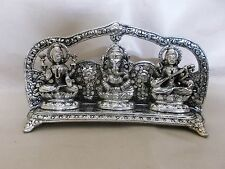 Hindu Ganesha Laxmi Saraswati Devi Statue Hinduism Metal Murti Figurine Ganesh