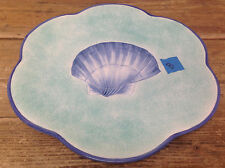 Este Ce Italy for Exposures 1997 Sea Shell Dinner Plate #B Green Blu Oyster Clam