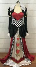 Queen of Hearts Adult Womens Halloween Costume Dress Only Size Medium