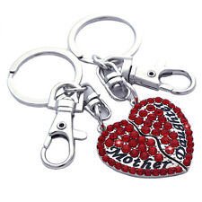 Mother Mom Daughter BFF Best Friend Love Heart Charm Key Chain Birthday Gift k6r