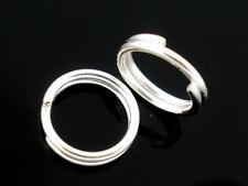 50 Anneaux double de jonction Argenté 10mm, Creation bijoux, colier, .... 10 mm