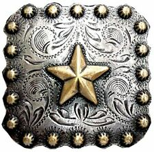 """WesternTack Antiqued Silver/Gold Plated Star 1"""" Concho"""