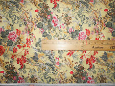 100% Cotton Fabric BTY Soft Butter Yellow Floral  Flowers Shabby Chic