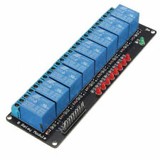 5 VDC 8-CHANNEL@10 AMPS LOW LEVEL INPUT RELAY CARD W/PWR & OUT LEDS USA SHIP!