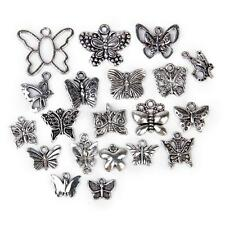 20pcs Mixed Antique Tibetan Silver Butterfly Charm Pendant DIY Jewelry Craft