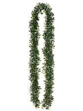 "Six 6' Artificial Boxwood Garland  In Outdoor Grass Patio 72"" Silk Plant Decor"