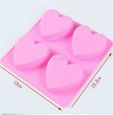 1x Heart Silicone Fondant Mold Cake Decor Chocolate Baking Soap Ice Mould Tool