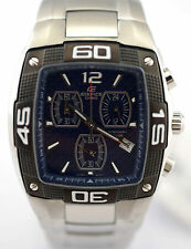 CASIO EF515D-2A EDIFICE Men Blue Square Dial 3SubDial SOLID STAINLESS STEEL