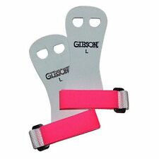 *** Gibson RAINBOW Palm Grips for Gymnastics Uneven Bars * PINK size LARGE New