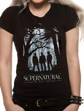 Supernatural Group Outline (Fitted) T-Shirt Womens Top Black S