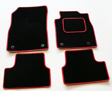 Perfect Fit Black Mats for Honda Civic Coupe 7th Gen 01-03 - Red Leather Trim