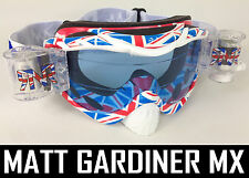 RIP N ROLL MOTOCROSS MX ENDURO GOGGLES HYBRID RnR NEW TEAM GB UK fully loaded