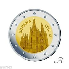 2 Euros € ESPAÑA SPAIN 2012 commemorative BURGOS CATHEDRAL CATEDRAL   SC / UNC