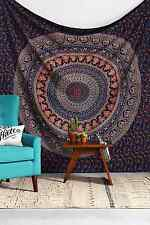 Indian Elephant Peacock Mandala Tapestry ,Indian Hippie Tapestry, Wall Hanging,B