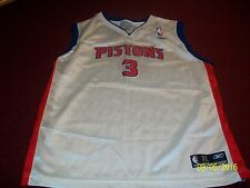 Detroit Pistons Ben Wallace #3 Reebok NBA Authentics Basketball Jersey Youth L