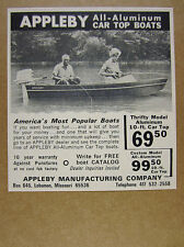 1964 Appleby Aluminum Car-Top Boats boat photo vintage print Ad