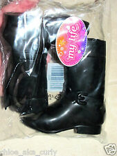 """American My Life Clothes BLACK Knee high Riding Boots Shoes 18"""" Doll Girl NEW"""
