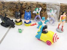 Vintage Batman,Wonderwomen Action Figure 1980's Candy head Dispenser, PVC Joker+