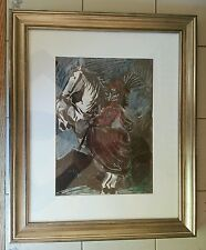 Picasso's Woman on Horse I, 12.3.59. Lithography Prof. Museum Glassed Framed COA