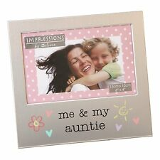 "JULIANA ALUMINIUM PHOTO FRAME 6"" X 4"" - ME & MY AUNTIE GIFT"