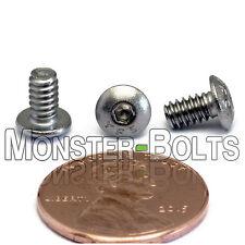 "#6-32 x 1/4"" – QTY 10 – Stainless Steel BUTTON HEAD Socket Cap Screws A2-70 18-8"