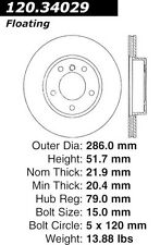 Centric Parts 126.34029SL Front Performance Brake Rotor