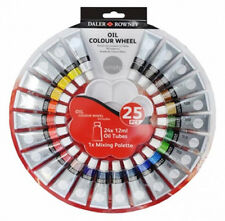 Daler Rowney Simply Oil Colour Wheel Set 24 x 12ml Tubes & Mixing Palette