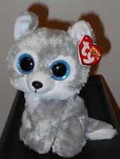 "Ty Beanie Boos ~ WARRIOR the 6"" Grey Wolf ~ Great Wolf Lodge Exclusive ~2016 NEW"