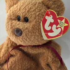 Ty Beanie Baby 1996 CURLY bear with very rare collectible hang tush tag error