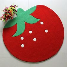 Cute Strawberry Kids Rugs And Carpets Acrylic Bedroom Carpet