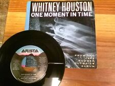 "WHITNEY HOUSTON 45 RPM ""One Moment in Time"" w/ original picture sleeve VG+ cond"