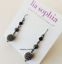 "Lia Sophia ""Katie"" Hematite Earrings"