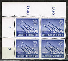 Germany WW2 Third Reich Army Rockets in Attack stamps Block 1944 MNH